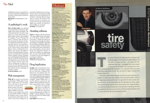 Article Preview: tire safety, May 28,2001 2001 | Maclean's