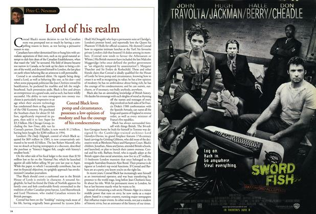 Article Preview: Lord of his realm, June 2001 | Maclean's
