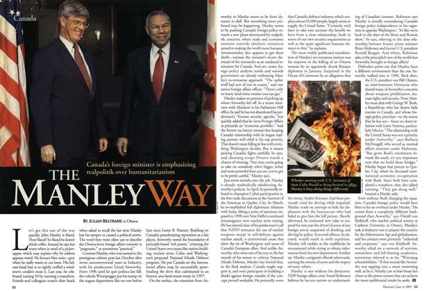 Article Preview: THE MANLEY WAY, June 2001 | Maclean's