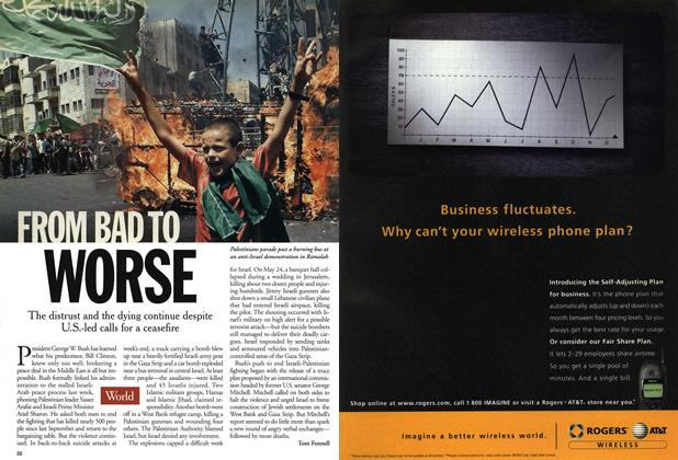 Article Preview: FROM BAD TO WORSE, June 2001 | Maclean's