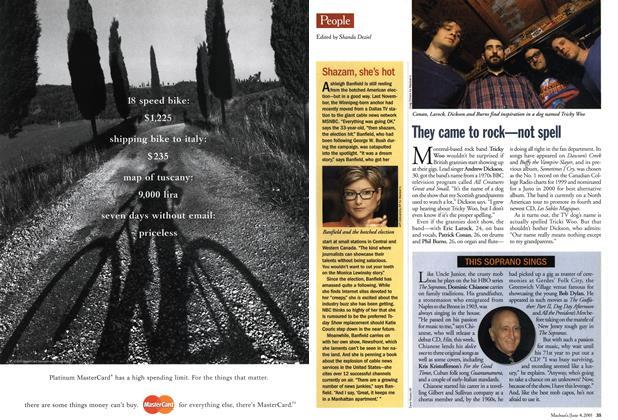 Article Preview: People, June 2001 | Maclean's