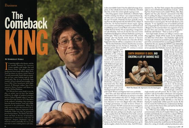 Article Preview: THE Comeback KING, June 2001 | Maclean's