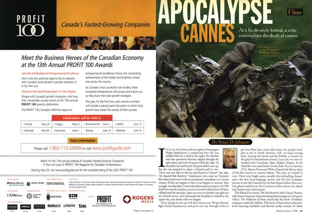 Article Preview: APOCALYPSE CANNES, June 2001 | Maclean's