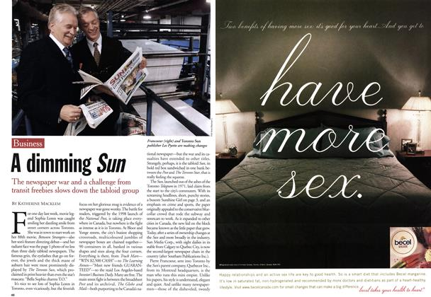 Article Preview: A dimming Sun, June 2001 | Maclean's