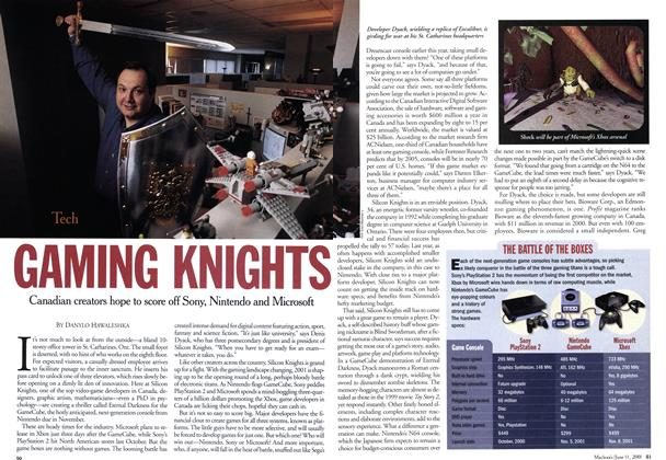 Article Preview: GAMING KNIGHTS, June 2001 | Maclean's