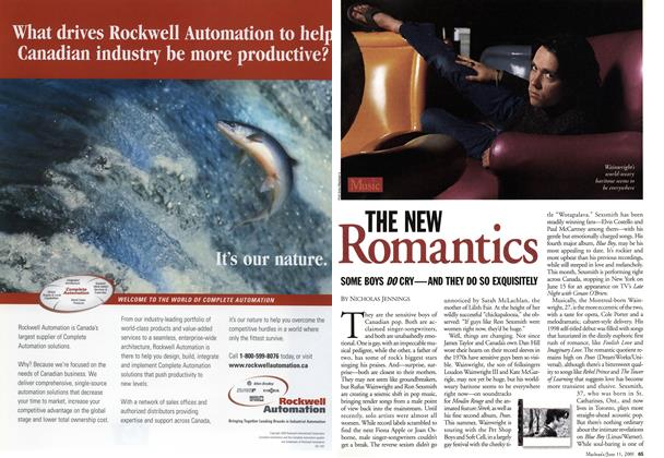 Article Preview: THE NEW Romantics, June 2001 | Maclean's