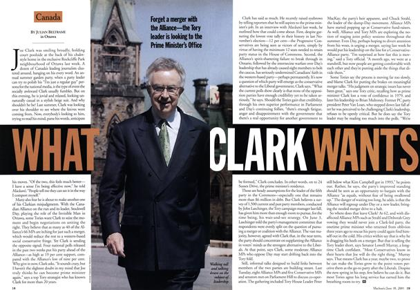 Article Preview: WHAT CLARK WANTS, June 2001 | Maclean's