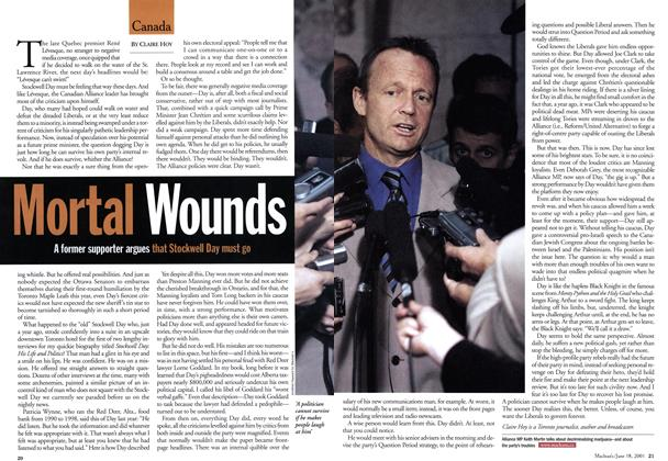 Article Preview: Mortal Wounds, June 2001 | Maclean's