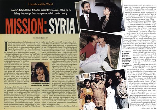 Article Preview: MISSION: SYRIA, June 2001 | Maclean's