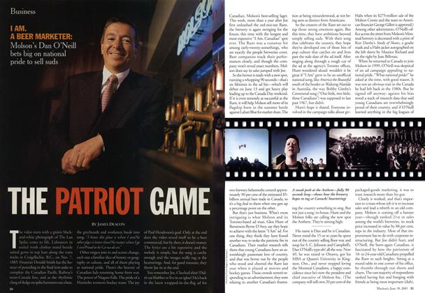 Article Preview: THE PATRIOT GAME, June 2001 | Maclean's