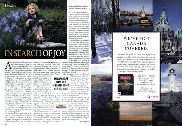Article Preview: IN SEARCH OF JOY, June 2001 | Maclean's