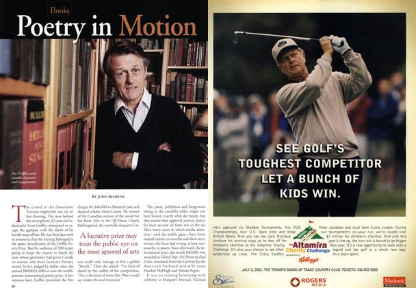 Article Preview: Poetry in Motion, June 2001 | Maclean's