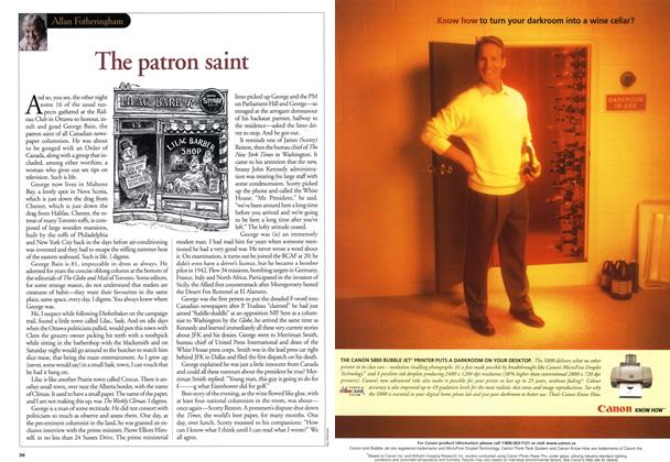 Article Preview: The patron saint, June 2001 | Maclean's