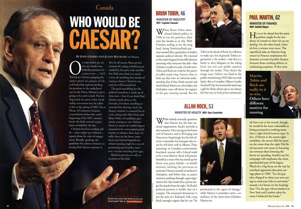 Article Preview: WHO WOULD BE CAESAR?, June 2001 | Maclean's