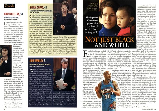 Article Preview: NOT JUST BLACK AND WHITE, June 2001 | Maclean's
