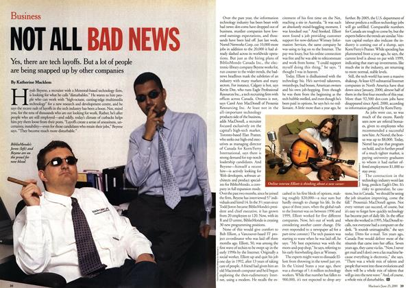 Article Preview: NOT ALL BAD NEWS, June 2001 | Maclean's