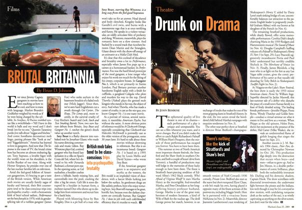 Article Preview: Drunk on Drama, June 2001 | Maclean's