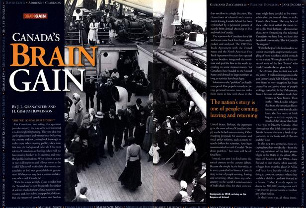 Article Preview: CANADA'S BRAIN GAIN, July 2001 | Maclean's