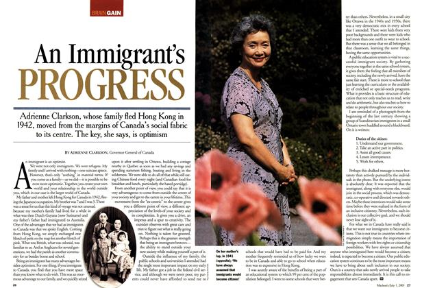Article Preview: An Immigrant's PROGRESS, July 2001 | Maclean's