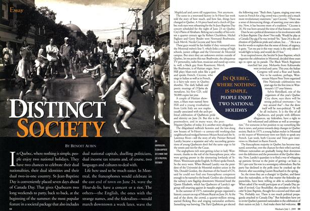 Article Preview: DISTINCT SOCIETY, July 2001 | Maclean's