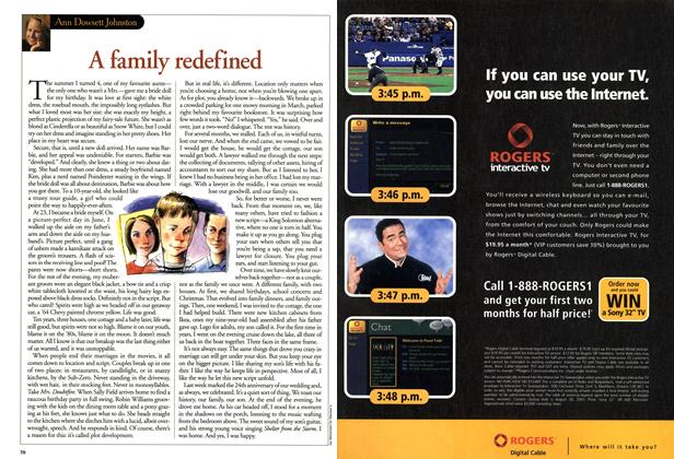 Article Preview: A family redefined, July 2001 | Maclean's