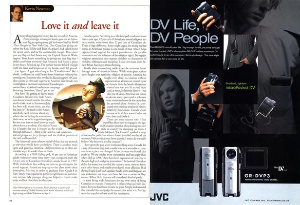 Article Preview: Love it and leave it, July 2001 | Maclean's