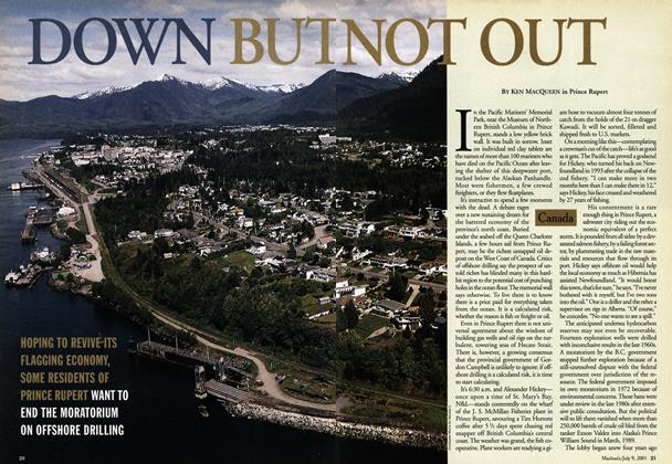 Article Preview: DOWN BUT NOT OUT, July 2001 | Maclean's