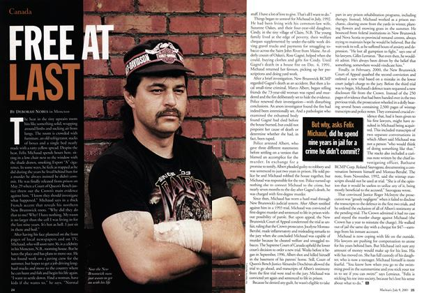 Article Preview: FREE AT LAST, July 2001 | Maclean's