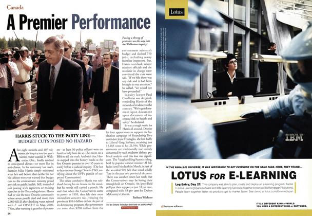 Article Preview: A Premier Performance, July 2001 | Maclean's