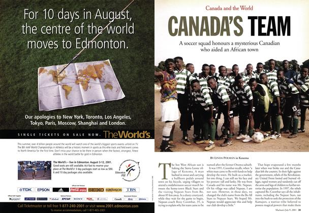 Article Preview: CANADA'S TEAM, July 2001 | Maclean's