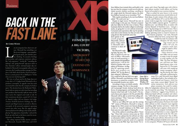 Article Preview: BACK IN THE FAST LANE, July 2001 | Maclean's