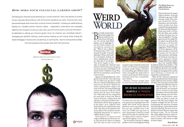 Article Preview: WEIRD WORLD, July 2001 | Maclean's