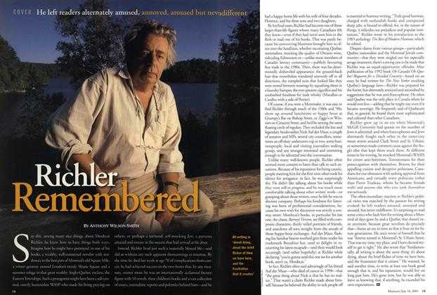 Article Preview: Richler Remembered, July 2001 | Maclean's