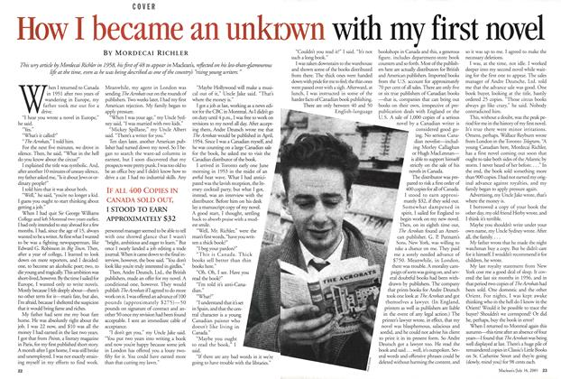Article Preview: How I became an unknown with my first novel, July 2001 | Maclean's