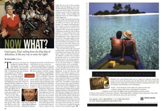 Article Preview: NOW WHAT?, July 2001 | Maclean's