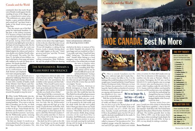 Article Preview: WOE CANADA: Best No More, July 2001 | Maclean's