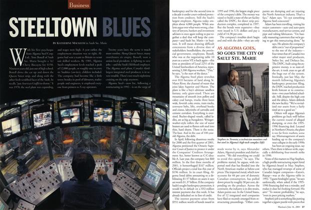 Article Preview: STEELTOWN BLUES, July 2001 | Maclean's