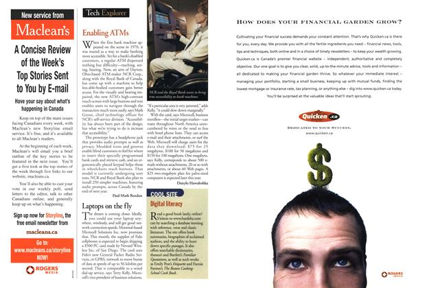 Article Preview: Tech Explorer, July 2001 | Maclean's
