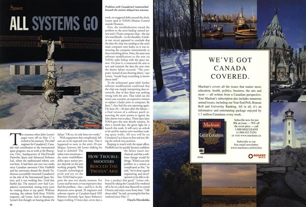 Article Preview: ALL SYSTEMS GO, July 2001 | Maclean's