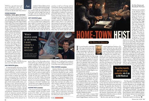 Article Preview: HOME-TOWN HEIST, July 2001 | Maclean's