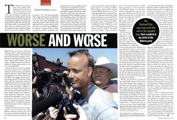 Article Preview: WORSE AND WORSE, July 2001 | Maclean's