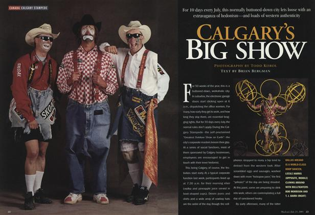 Article Preview: CALGARY'S BIG SHOW, July 2001 | Maclean's