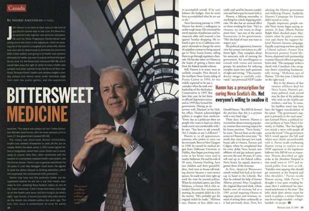 Article Preview: BITTERSWEET MEDICINE, July 2001 | Maclean's