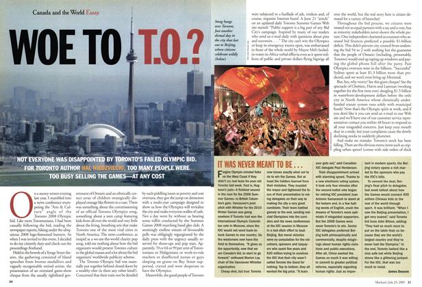 Article Preview: WOE TO T.O.?, July 2001 | Maclean's