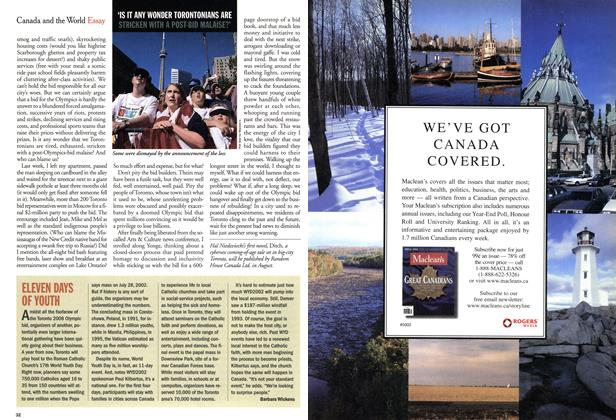 Article Preview: ELEVEN DAYS OF YOUTH, July 2001 | Maclean's