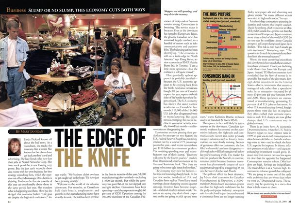 Article Preview: THE EDGE OF THE KNIFE, July 2001 | Maclean's