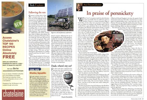 Article Preview: In praise of persnickety, July 2001 | Maclean's
