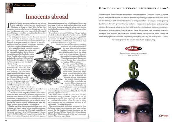 Article Preview: Innocents abroad, July 2001 | Maclean's