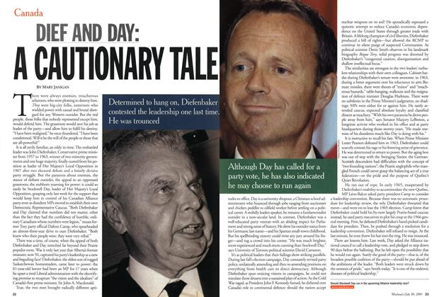 Article Preview: DIEF AND DAY: A CAUTIONARY TALE, July 2001 | Maclean's