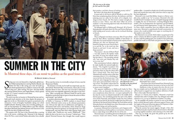 Article Preview: SUMMER IN THE CITY, July 2001 | Maclean's